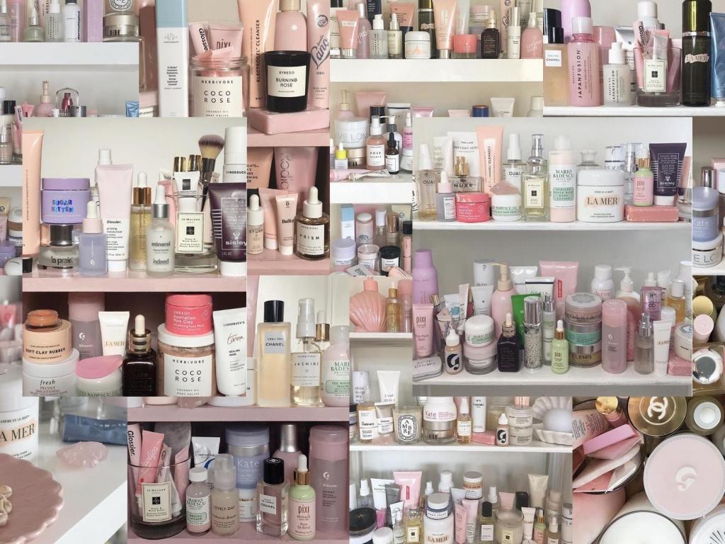 Como as shelfies de cosméticos, em banheiros abarrotados de skincare, podem estar abalando nossa relação com a nossa própria pele.
