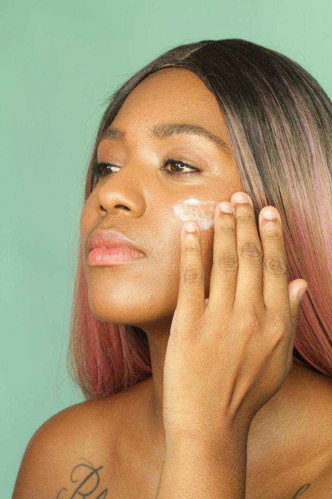 Aplicação de cosméticos